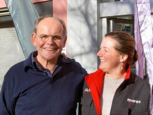 Caroline (r) mit Helmut Drache